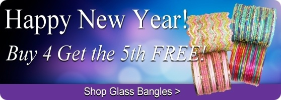 Indian glass bangle sale, buy 4 get 1 free!