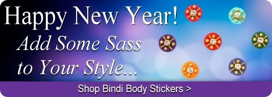 Buy Indian bindi body stickers online.
