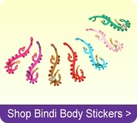 Buy crystal Indian bindi body stickers online.