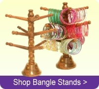 Buy wood bangle bracelet display stands online.