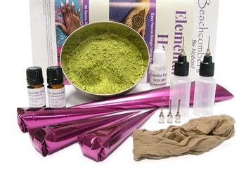 Big bad starter henna tattoo kit for beginning henna artists for Temporary tattoo kit online