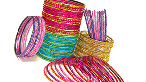 Indian glass bangles, bracelets made of glass