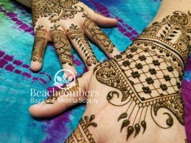 Beachcombers' products gift certificate for henna and website items