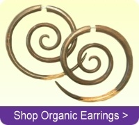 Buy faux fake tapers and wood earrings online.