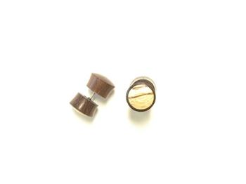 inlay fake plugs faux gauge earrings for men. Black Bedroom Furniture Sets. Home Design Ideas